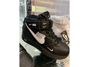 Кросівки зимові * Nike (Репліка) 2002-1 чорний