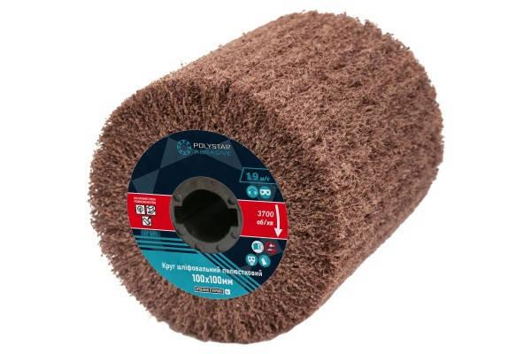 Скотч-брайт круг шлифовальный лепестковый КШЛ 100х100х19мм, P240, фото 2