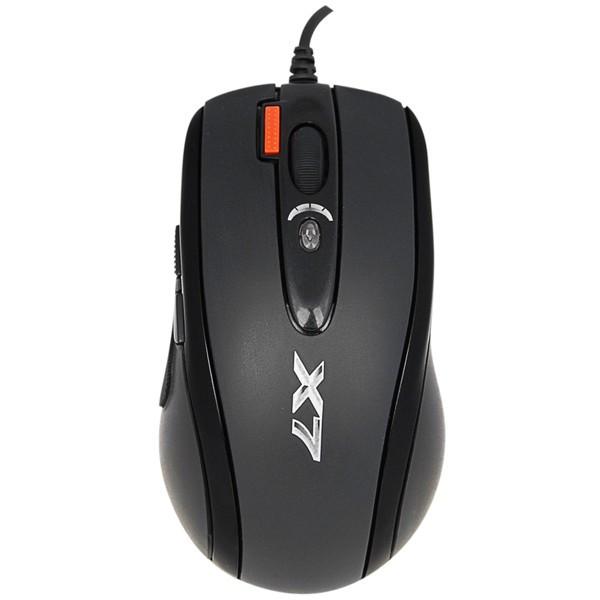 Миша A4Tech X-718BK Black USB