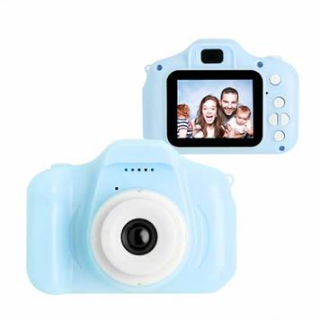 Ударопрочный Цифровой Full HD детский фотоаппарат Smart Kids Camera GM 14 Голубой