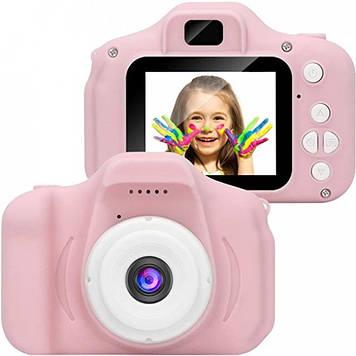 Ударопрочный Цифровой Full HD детский фотоаппарат Smart Kids Camera GM 14 Розовый