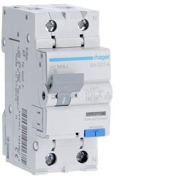 Дифференциальный автомат Hager AC966J 6kA C-16A 10mA A