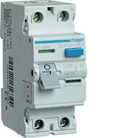 Устройство защитного отключения УЗО Hager CD226J 2x25 A, 30 mA, AC, 2м