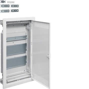 Щит мультимедийный встраиваемый с металлической дверцей Hager Volta VU36NWB 3-х рядный внутренней установки