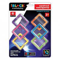 Магнітний конструктор iBlock PL-920-12 6 деталей
