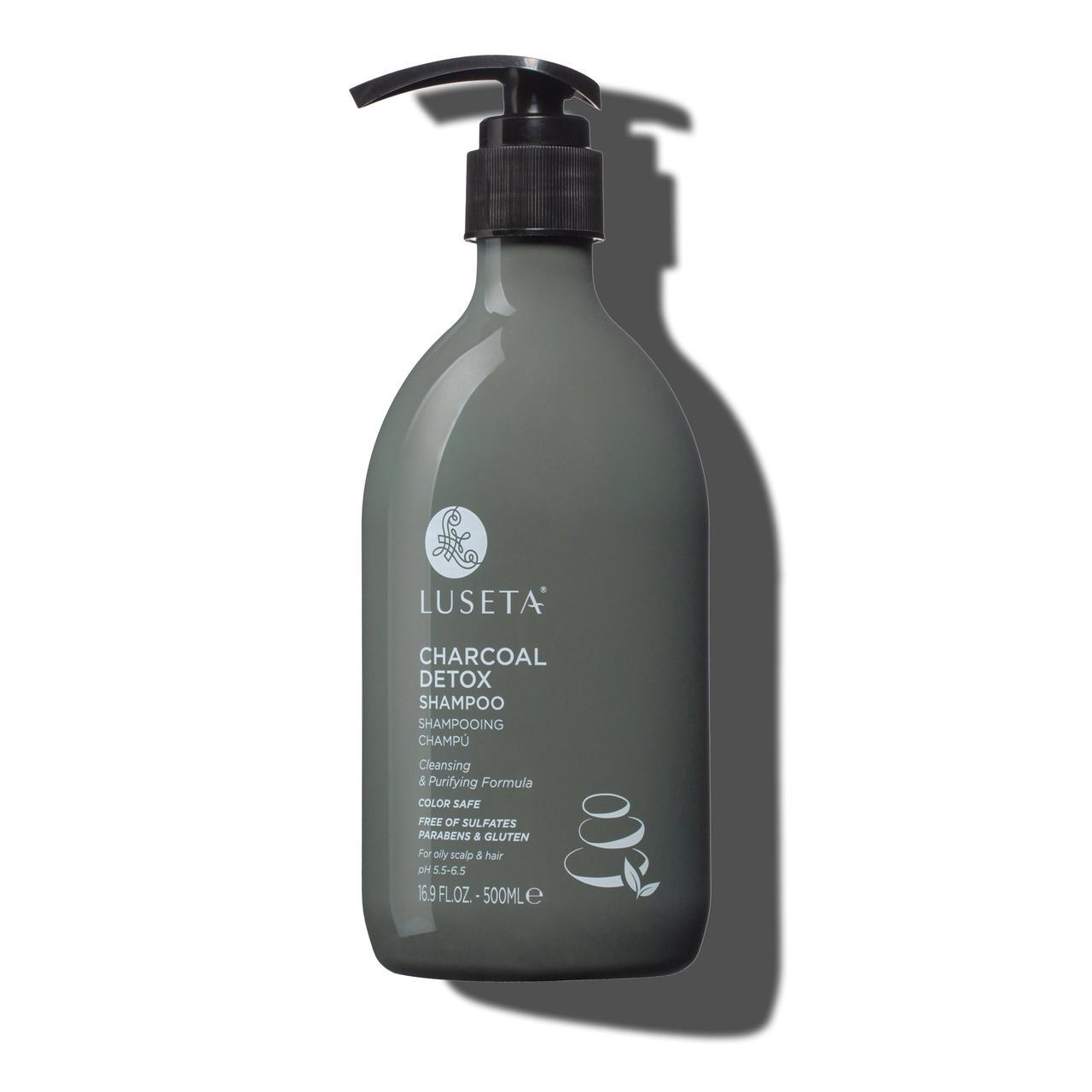 Шампунь для жирных волос Luseta Charcoal Detox Shampoo 500ml