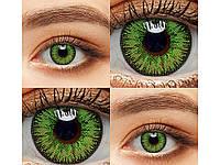 Цветные линзы 1 пара Линзы на Хэллоуин Green1