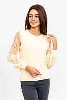 Джемпер с прозрачным рукавом LUREX - молочный цвет, S (есть размеры), фото 1