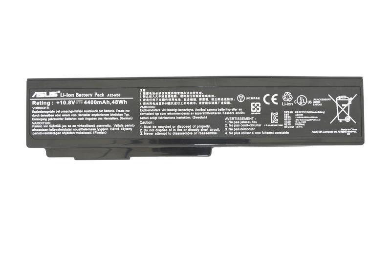 Оригинальная аккумуляторная батарея для ноутбука Asus A32-M50 11.1V Black 4400mAh Orig