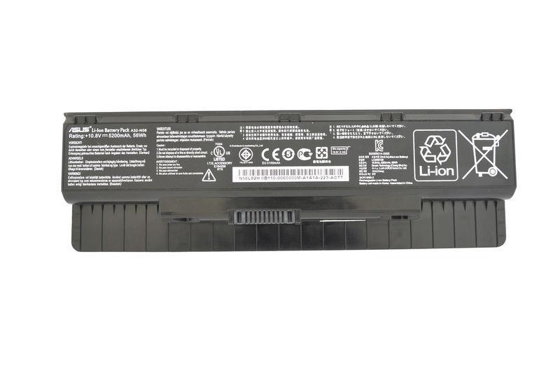 Аккумуляторная батарея для ноутбука Asus A32-N56 10.8V Black 5200mAh Orig