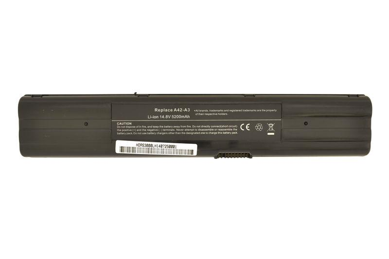 Аккумуляторная батарея для ноутбука Asus A42-A3 14.8V Black 5200mAh OEM