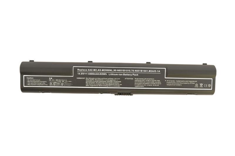 Аккумуляторная батарея для ноутбука Asus A42-M2 M2N 14.8V Black 4400mAh OEM