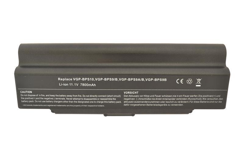 Усиленная аккумуляторная батарея для ноутбука Sony VGP-BPS9B VAIO VGN-NR260E 11.1V Black 7800mAh OEM