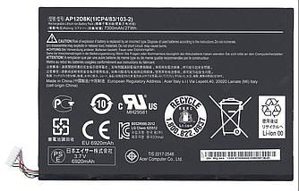 Оригинальная аккумуляторная батарея для планшета Acer AP12D8K Iconia Tab W510 3.7V Black 7300mAh 27Wh