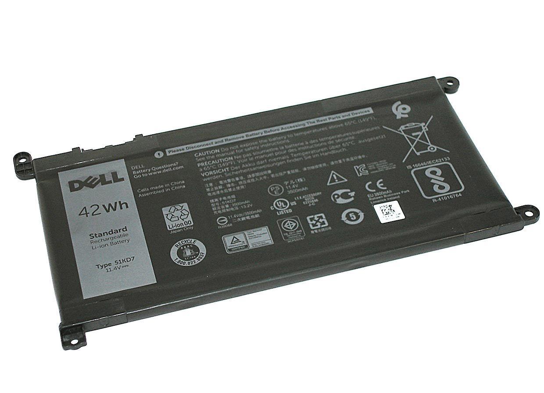 Аккумуляторная батарея для ноутбука Dell Y07HK 51KD7 3180, 3189 11.4V Black 3510mAh Orig