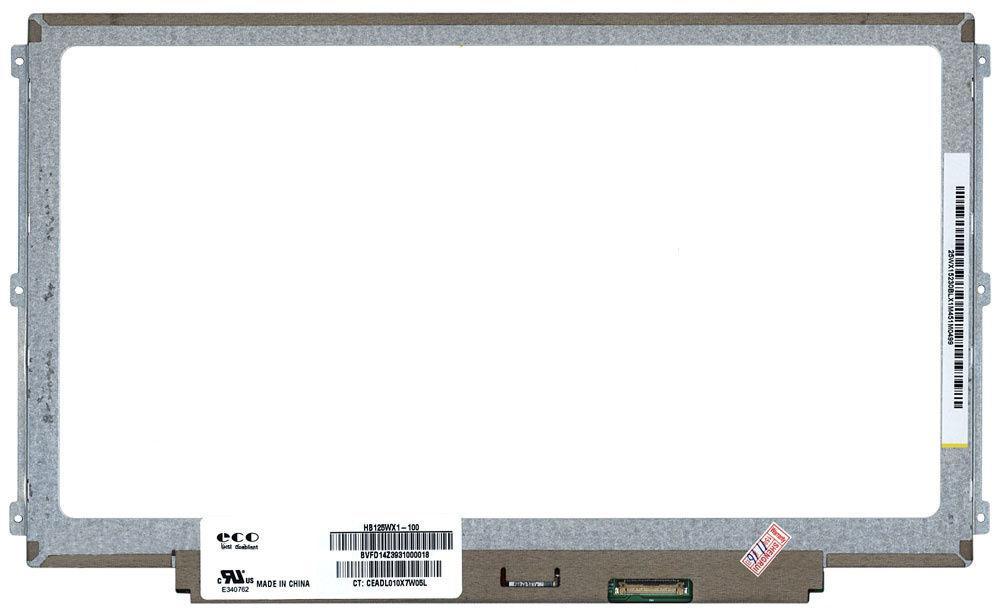"""Матриця для ноутбука 12,5"""", Slim (тонка), 30 edp pin (знизу справа), 1366x768, Світлодіодна (LED), вушка по"""
