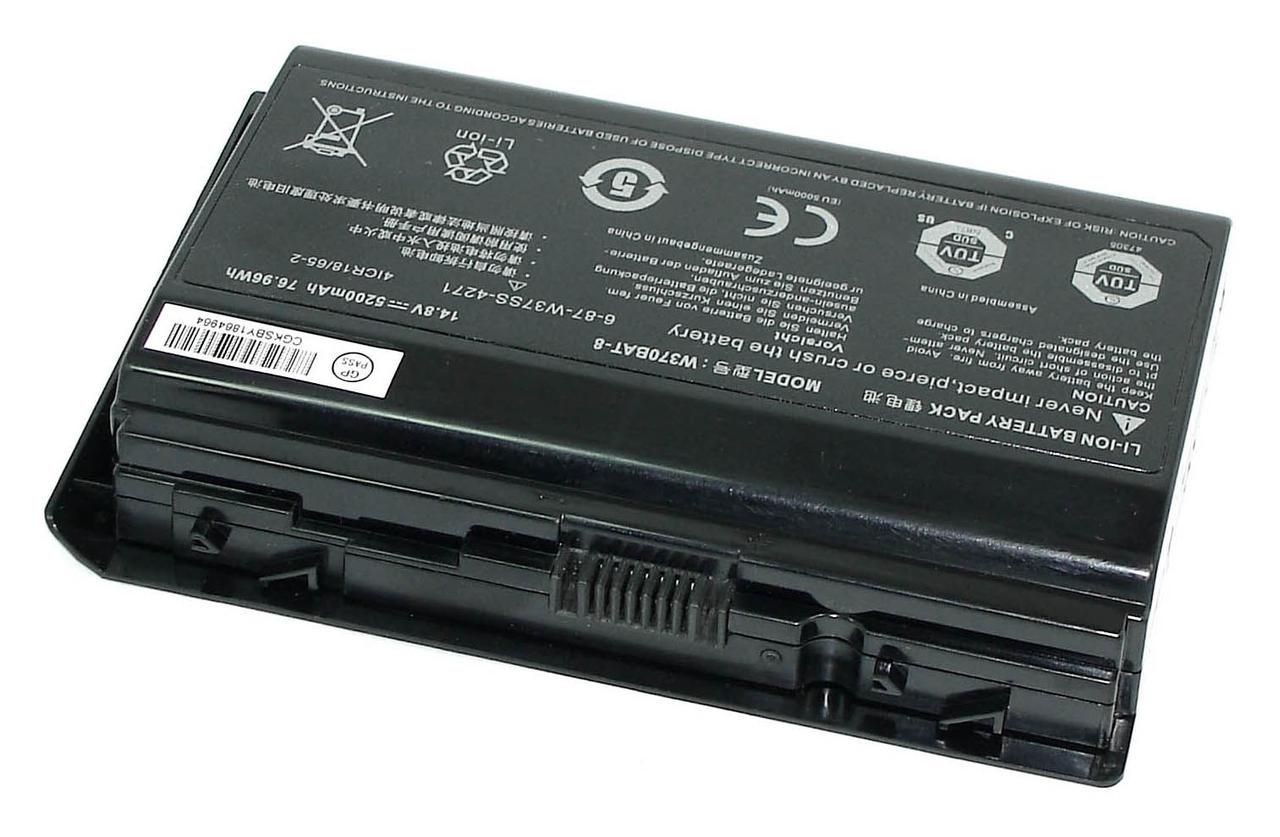 Аккумуляторная батарея для ноутбука DNS W370BAT-8 Clevo W370 14.8V Black 5200mAh Orig