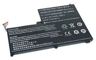 Аккумуляторная батарея для ноутбука DNS W740BAT-6 Clevo W740 11.1V Black 4800mAh Orig