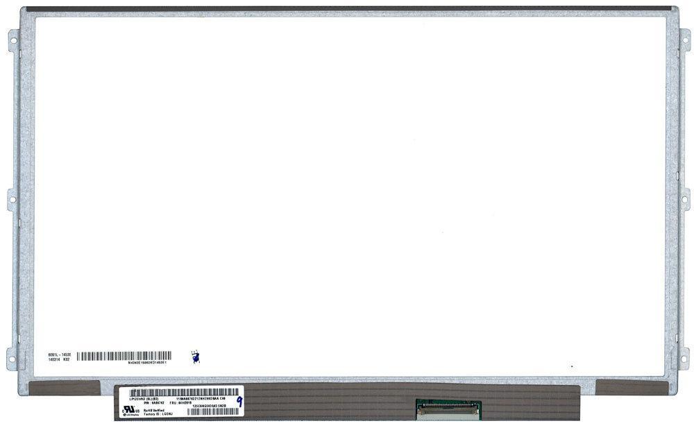 """Матрица для ноутбука 12,5"""", Slim (тонкая), 40 pin (снизу справа), 1366x768, Светодиодная (LED), IPS, крепления"""