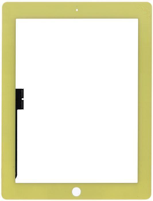 Тачскрин (Сенсорное стекло) для планшета Apple iPad 3 A1416, A1430, A1403, A1458, A1459, A1460 желтый