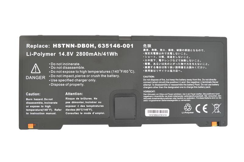 Аккумуляторная батарея для ноутбука HP Compaq HSTNN-DB0H ProBook 5330M 14.8V Black 2800mAh OEM