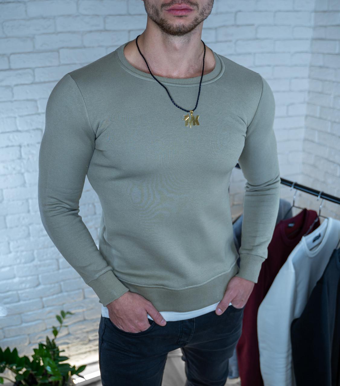 Мужская толстовка Свитшот серая/ Турция Серый, XXL