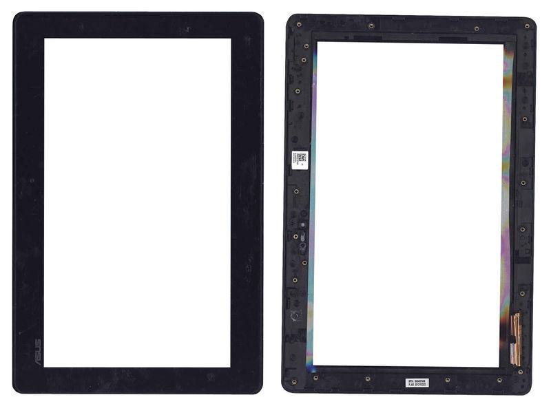 Тачскрин (Сенсорное стекло) для планшета Asus Transformer Book T100 черный с рамкой