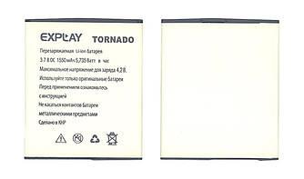 Оригинальная аккумуляторная батарея для смартфона Explay Tornado 3.7V White 1550mAhr 5.7Wh