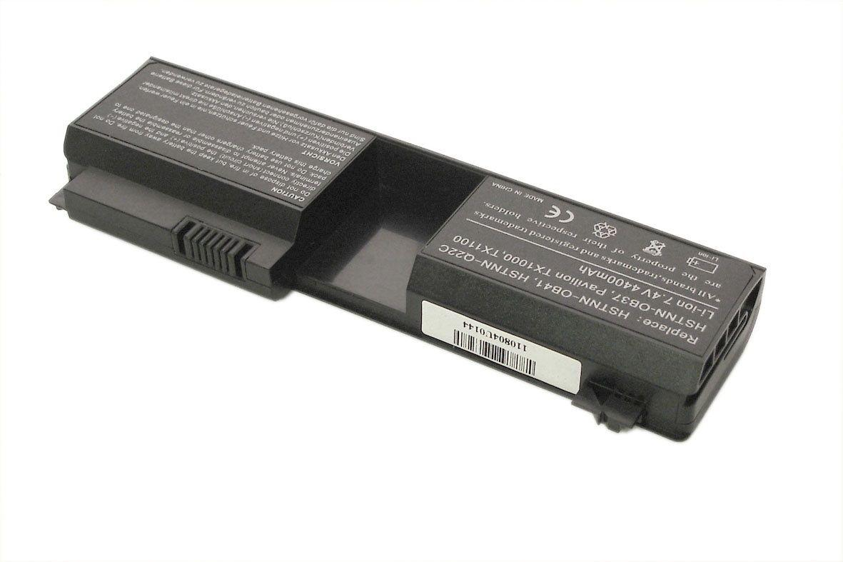 Аккумуляторная батарея для ноутбука HP Compaq HHSTNN-OB37 Pavilion TX1000 7.4V Black 4400mAh OEM