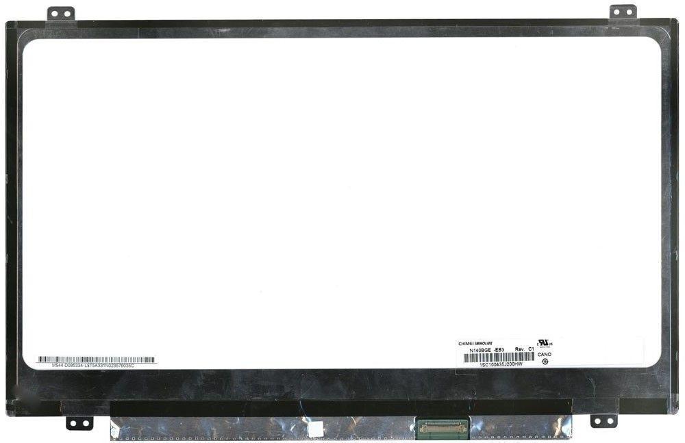 """Матриця для ноутбука 14,0"""", Slim (тонка), 30 pin eDP (знизу справа), 1366x768, Світлодіодна (LED), кріплення"""