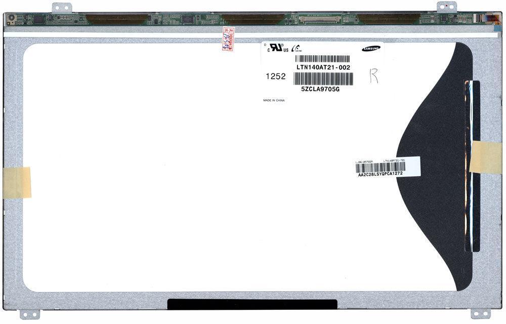 """Матриця для ноутбука 14,0"""", Slim (тонка), 40 pin (знизу справа), 1366x768, Світлодіодна (LED), кріплення"""