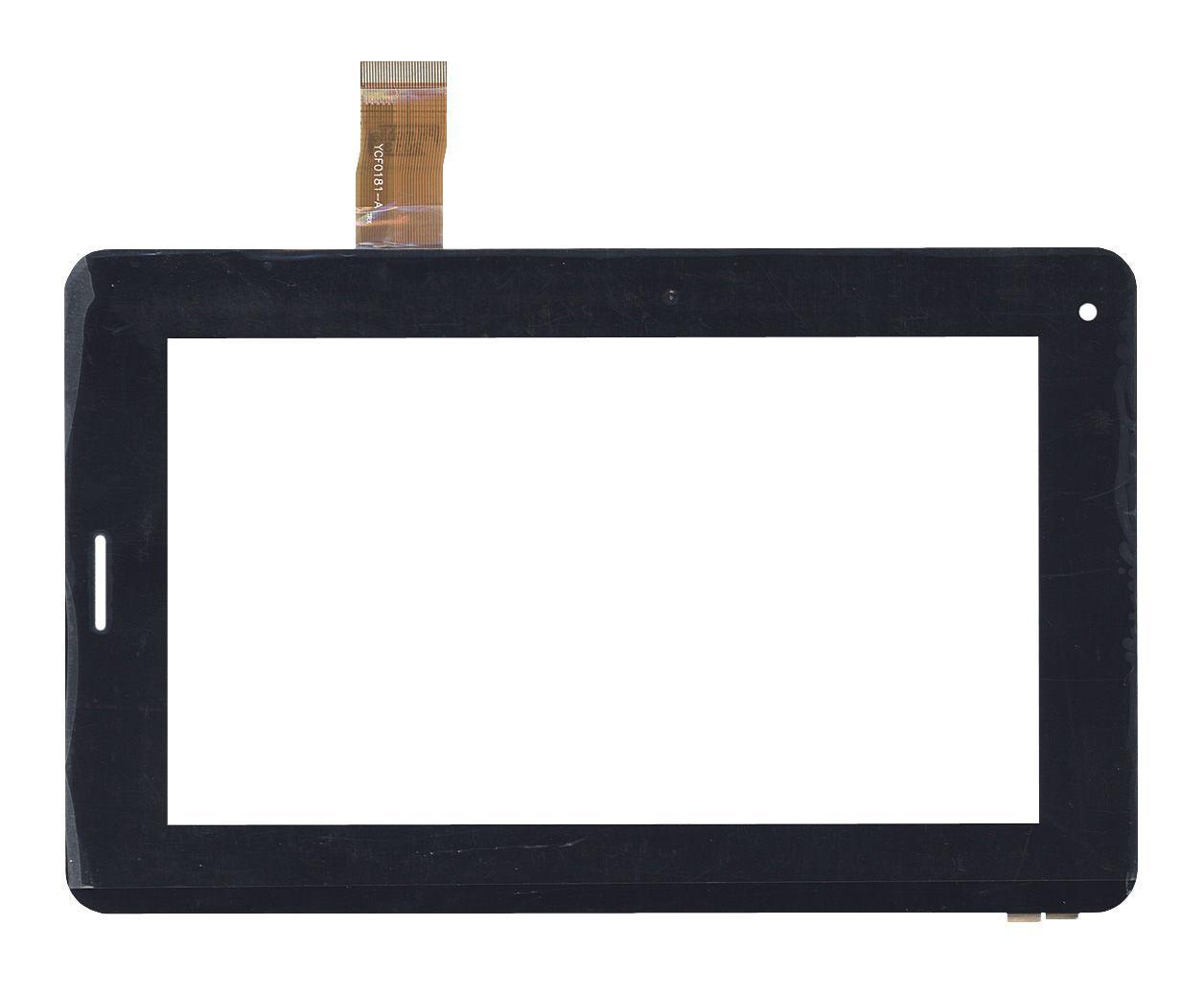 Тачскрин (Сенсорное стекло) для планшета JQFP07006A черный. размер: 190х118mm, 30 PIN