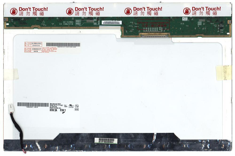 "Матрица для ноутбука 14,1"", Normal (стандарт), 30 pin широкий (сверху справа), 1440x900, Ламповая (1 CCFL),"
