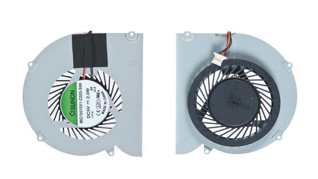 Вентилятор для ноутбука Acer Aspire 5830, 5830T, 5830G, 5830TG, P5WS0 VER-3, 5V 0.25 A 4-pin SUNON VER-3