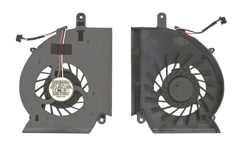 Вентилятор для ноутбука Samsung RF510, RF511, RF710, RF711, RF712, RC530, RC730, 5V 0.5A 3-pin Forcecon