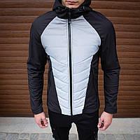 Мужская куртка Rafael Pobedov (черно-рефлектив)