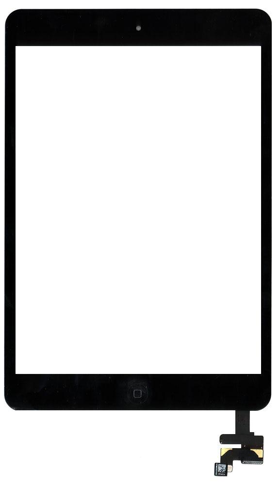 Тачскрин для планшета Apple iPad mini + stiker + IC с кнопкой Home original черный