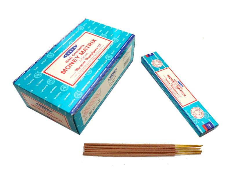 Аромапалочки натуральные индийские благовония Денежная матрица Сатья Satya Money Matrix