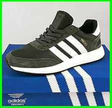 Кроссовки Мужские Adidas Iniki Runner Boost Серые Адидас (размеры: 41,42,43,44,45,46) Видео Обзор