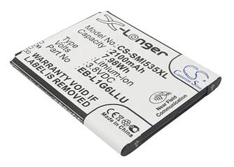 Оригинальная аккумуляторная батарея для смартфона Samsung CS-SMI535XL Galaxy S3 I9300 3.8V Black 2100mAh