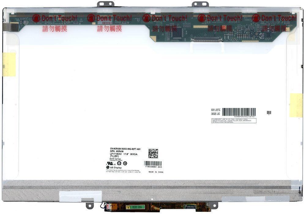 """Матриця для ноутбука 17,1"""", Normal (стандарт), 30 pin (зверху праворуч), 1440x900, Лампова (1 CCFL), кріплення"""