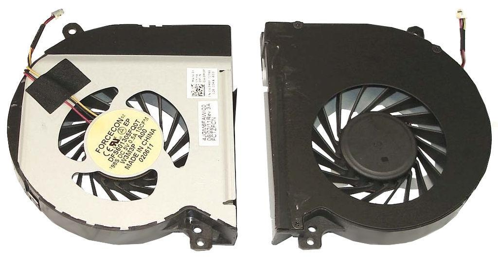 Вентилятор для ноутбука Dell XPS 15, L501X, L502X, L521X, 5V 0.5 A 3-pin Forcecon