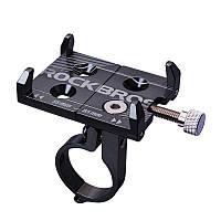 Велодержатель на руль для телефона алюминиевый RockBros Black (6060201)