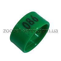 Маркерные пластиковые кольца для птицы 2см (номерные)