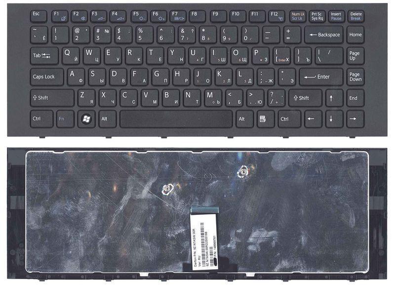Клавиатура Sony Vaio (VPC-EG, VPC-EK) Black, (Black Frame) RU