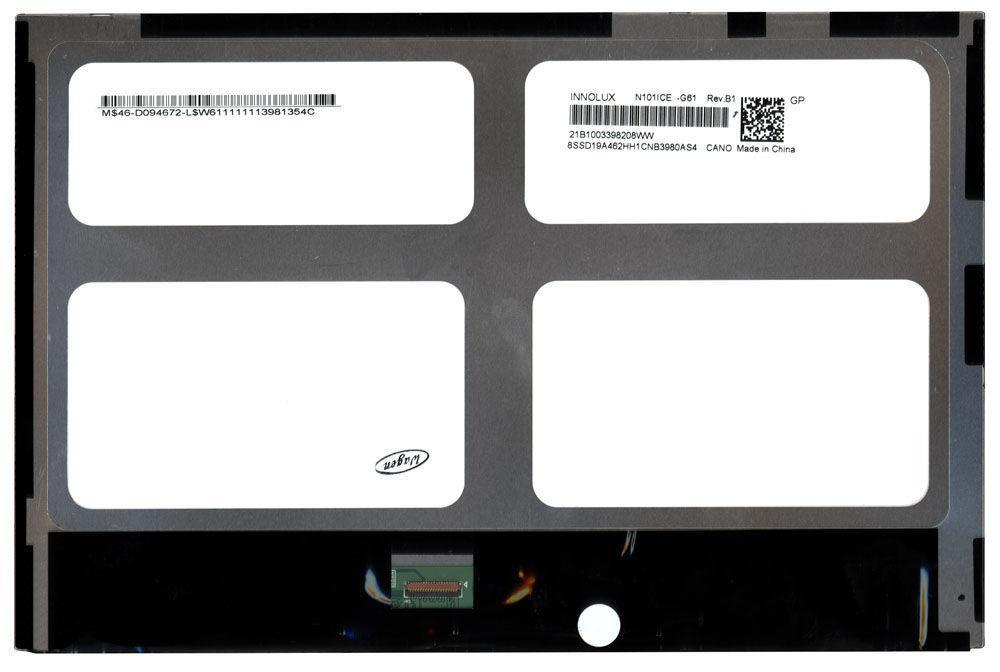 "Матрица для планшета 10.1"", Slim (тонкая), 30 pin (снизу слева), 1280x800, Светодиодная (LED), без крепления,"