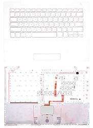 Клавиатура для ноутбука Apple MacBook (A1181) с топ-панелью (белая) White, RU