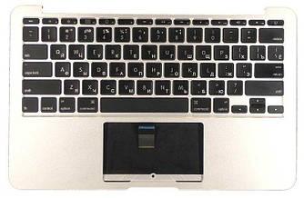 Клавиатура для ноутбука Apple MacBook Air (A1370) 2010+ Silver с топ-панель, RU (горизонтальный энтер)