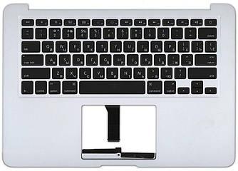 Клавиатура для ноутбука Apple MacBook Air 2011+ (A1369) Black с топ панелью, (No Frame), с подсветкой (Light),