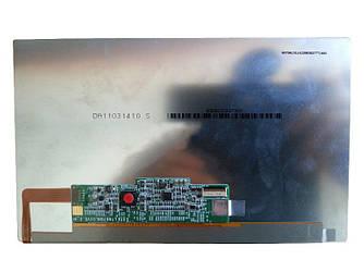 "Матрица для планшета 7"", Slim (тонкая), 30 pin (снизу справа), 1024x600, Светодиодная (LED), без крепления,"